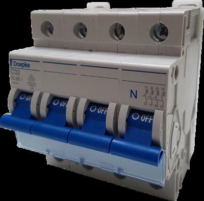 Doepke automaat 32A/C-kar/3P+N