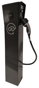 Laadzuil slim met RFID passysteem 2x22KW met 1 vaste laadkabel en alle beveiligingen